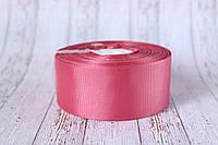Репсова стрічка 4 см, 25 ярд/рулон, помадного кольору, фото 1