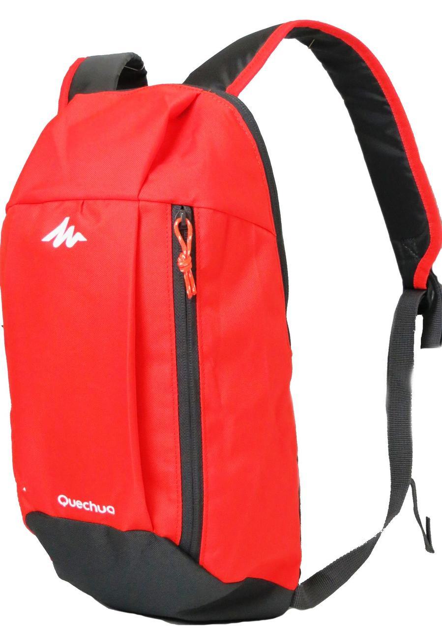 Городской рюкзак Quechua 10л. красный с черным (рюкзак для спорта, спо
