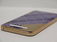 Силиконовый чехол для Lenovo Vibe C, A2020 Ромб синий, фото 1
