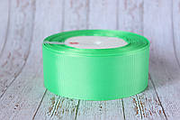 Репсовая лента 4 см, 25 ярд/рулон, светло-зеленого цвета, фото 1