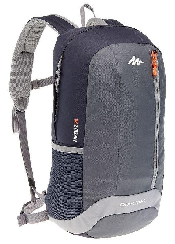 Городской рюкзак Quechua 20л. серый (рюкзак для спорта, спортивные рюк