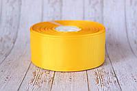 Репсовая лента 4 см, 25 ярд/рулон, ярко-желтого цвета
