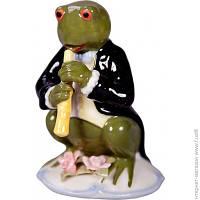 Декоративная Статуэтка Lefard Лягушка с кларнетом 10x7x11см (461-217)