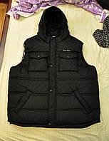 Мужские жилеты больших размеров, жилетка батал теплая на синтепоне
