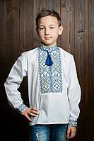 Детская украинская вышиванка для мальчика с узорами герба