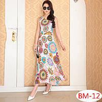 Летнее платье  с цветами РМ7055