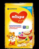 Каша мол. суха Мультизлакова з фруктами, пластівцями та кульками Milupa для дітей від 10-ти місяців, м'яка уп.