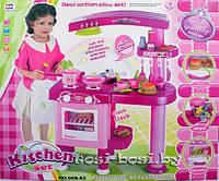 Игровой набор Кухня 008-82 с вытяжкой,розовая