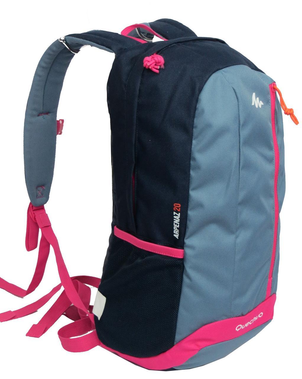 Городской рюкзак Quechua 20л. синий с серым (рюкзак для спорта, спорти
