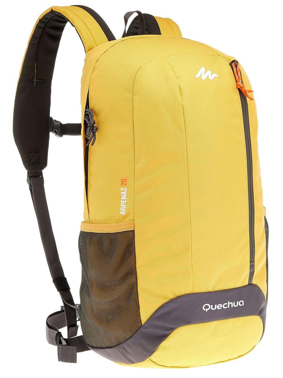 Городской рюкзак Quechua 20л. желтый (рюкзак для спорта, спортивные рю