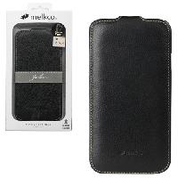 """Чехол-флип Samsung Galaxy Mega 5.8 i9150 """"Melkco"""" черная кожа"""