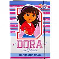 Папка для труда картонная А4 «Dora» P-A4-LD-1 ПП04/14 Mandarin