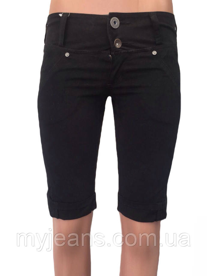 Женские шорты чёрного цвета ом1521