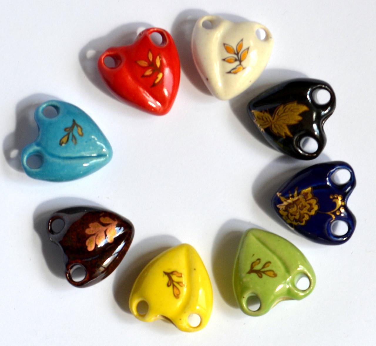 Аромакулон / Аромамедальон, сердечко, на кожаном шнурке, керамический