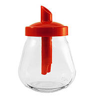 Сахарница стеклянная с пластиковой крышкой-дозатором 260 мл