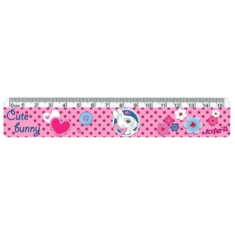Линейка пластиковая Cute Bunny K17-090-1