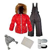 Зимний комплект для девочек Gusti Boutique GWG 4624 True Red.