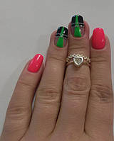 Кольцо из серебра на фалангу пальца  Леди, фото 1