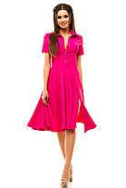 Ж189 Платье расклешенное в расцветках размеры 42-48, фото 3