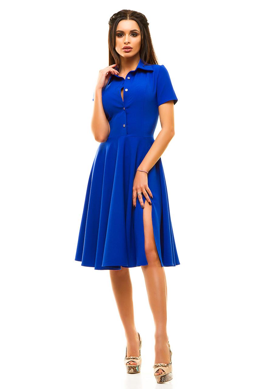Ж189 Платье расклешенное в расцветках размеры 42-48