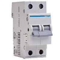Автоматический выключатель In=6 А 2п С 6 kA 2м