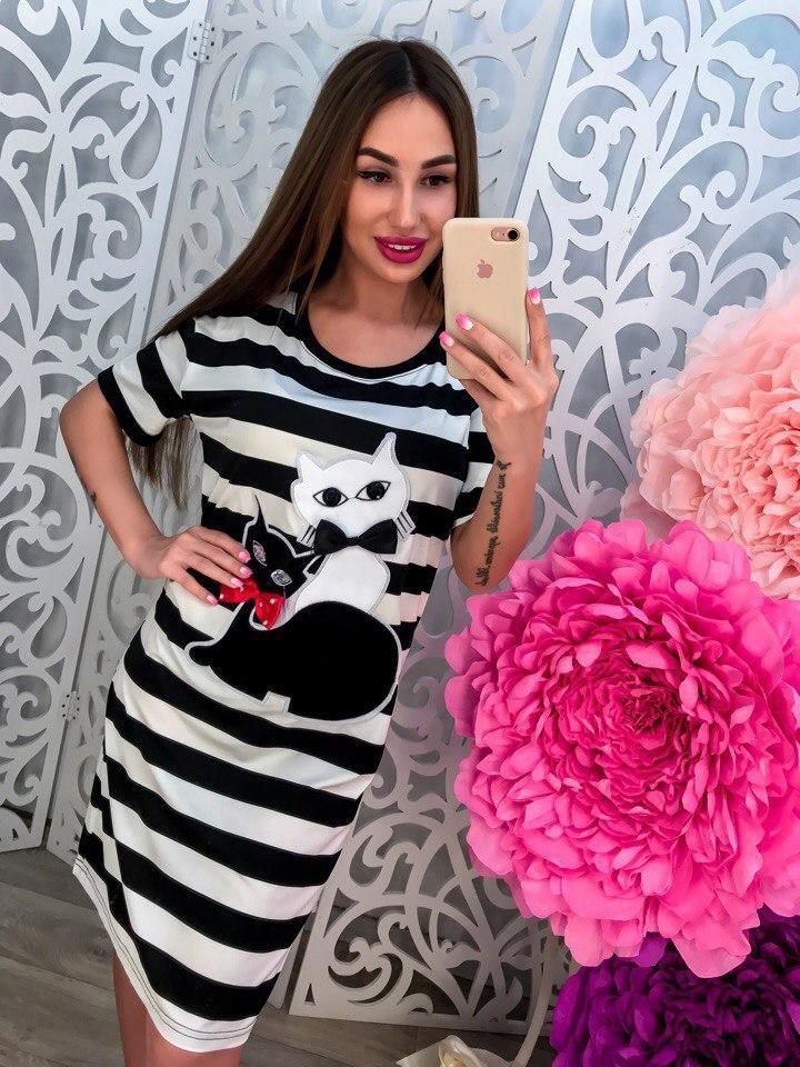 Платье милые кошечки