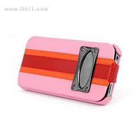 Чехол HOCO Marquess Fashion Flip Leather case Hi-L002 для iPhone 4s & 4 pink-orange