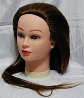 Учебная голова-манекен с искусственным термостойким волосам YRE-80-12# YRE