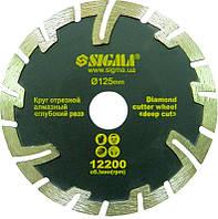 Круг отрезной алмазный Sigma Ø125х22.2х2.4 мм глубокий рез