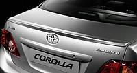 Спойлер багажника ( шабля, лип спойлер ) Toyota Corolla 2007-2013 р. в. Тойота Корола ABS пластик