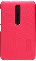 Чехол для сматф. NILLKIN Nokia Asha 501 - Super Frosted Shield (Красный)