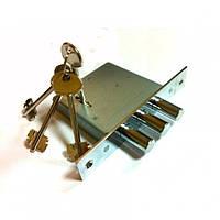 Замок врезной сувальдный Титан 1001-5 ключей  (3 ригеля)