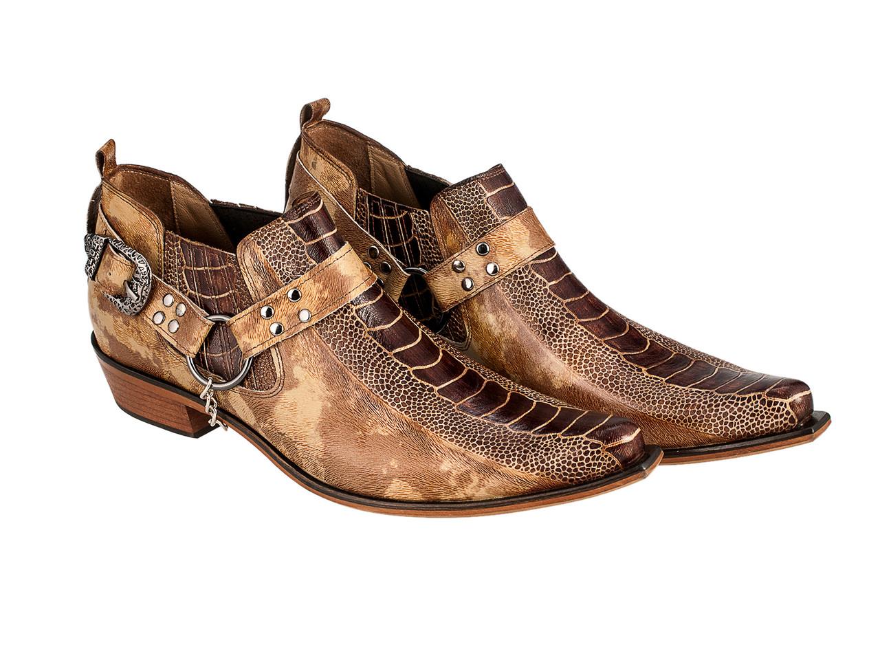 Казаки Etor 26-884-1430  бежевий+коричневий