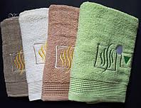 Однотонное банное полотенце 140х70. 100% хлопок, качество отличное