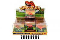 Набір  динозаврів муз.  (коробка 12 шт. ) ТВ001 р.9,5х4,5х9см./480/