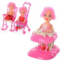 Кукла с ходунками, креслом-качалкой или коляской 808 ABC HN
