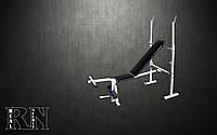 Скамья для жима RN Sport универсальная с тренажером для ног
