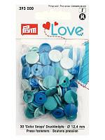 Кнопки Color Snaps PrymLove,голубой/синий., 12мм, Prym