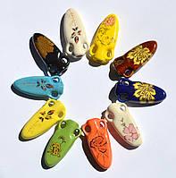 Аромакулон, Аромамедальон, кувшин 5, на кожаном шнурке, керамический