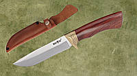 Нож нескладной 2691 HWP (кожаный чехол), нож для охоты