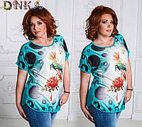 Женские футболки   больших размеров ат4639, размеры 48-56, фото 1