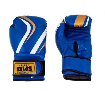 Боксерские перчатки CLUB BWS FLEX 10oz синий, фото 2