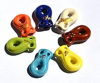 Аромакулон, Аромамедальон, кувшин 4, на кожаном шнурке, керамический