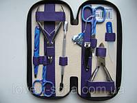 Маникюрный набор KDS маникюрно-педикюрный с цветным инструментом (8 предметов)
