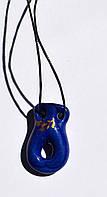 Аромакулон, Аромамедальон, кувшин 4, на кожаном шнурке, керамический Синий