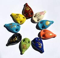 Аромакулон, Аромамедальон, кувшин 6, на кожаном шнурке, керамический