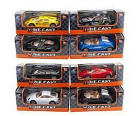 Машина металл 501/501-1 (240шт/2) 10 моделей/цветов, в коробке 14*6*5.5 см