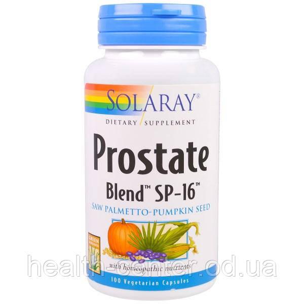 Prostate Blend SP-16 +гомеопатия 100 капс комплекс для простаты, защита от простатита Solaray USA