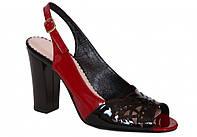 Босоножки женские Лидер красные с черным 2790.215
