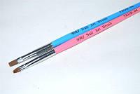 Кисть для геля искусственная №4, кисть YRE YKGB-04, гелевое наращивание ногтей